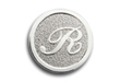 RL_3-dimensional logo embossed on sandy textured background