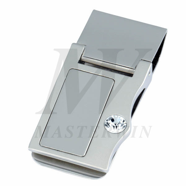 Metal Money Clip with Crystal_8889