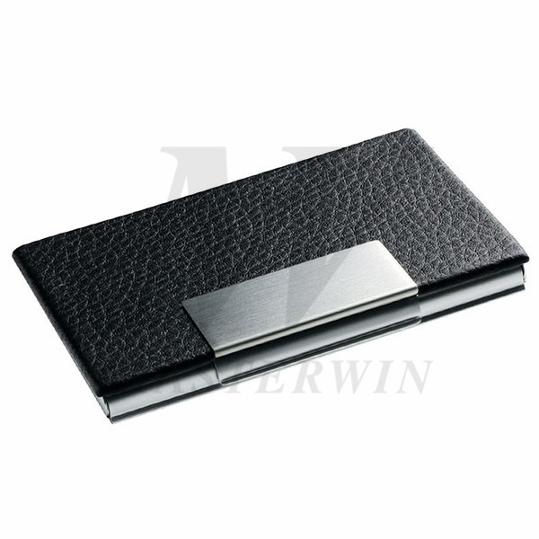 PU_Metal Name Card Case(with Aluminium back)_87544