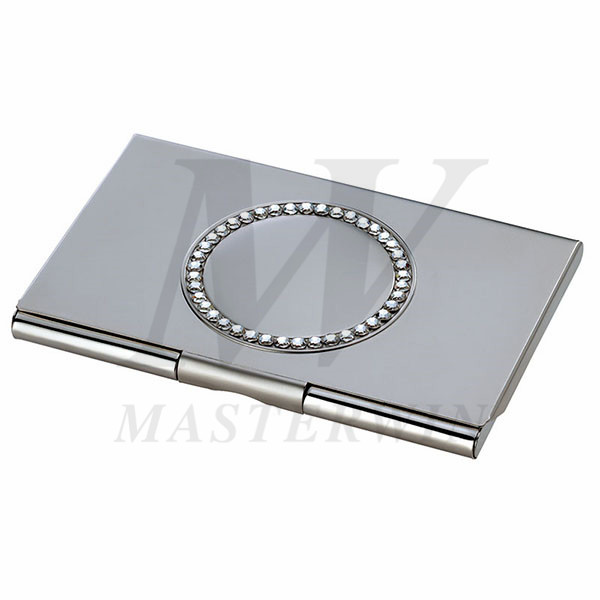 Metal Name Card Case with Crystals_518-34