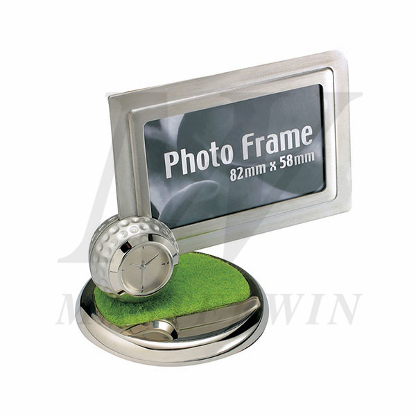 Photo Frame with Desk Clock_B82901