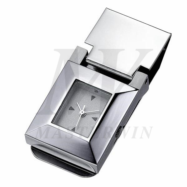 Metal Money Clip with Clock_85809