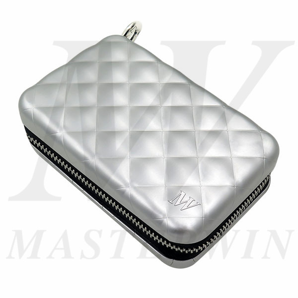 Aluminum_Quilted_Zipper_Wallet_QC16-001BU