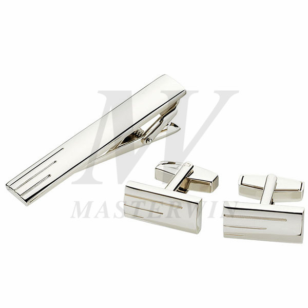 Metal Tie Clip and Cufflinks Set_94973