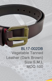 BL17-002DB_Vegetable_Tanned_Leather(DarkBrown)