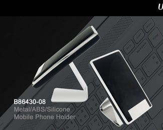 B86430-08_Metal_ABS_Silicone_Mobile_Phone_Holder