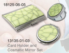 Card Holder and                                     Cosmetic Mirror Set 18125-06-05_13135-01-03
