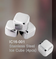 Stainless Steel Ice Cube(4pcs)_IC16-001