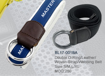 BL17-001BA_Double_O-Ring_Leather_Woven-Strap_Webbing_Belt