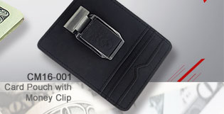 Card Pouch With Money Clip_CM16-001