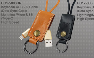 UC17-003BR_Keychain_USB2.0_Cable_Data_Sync_Cable